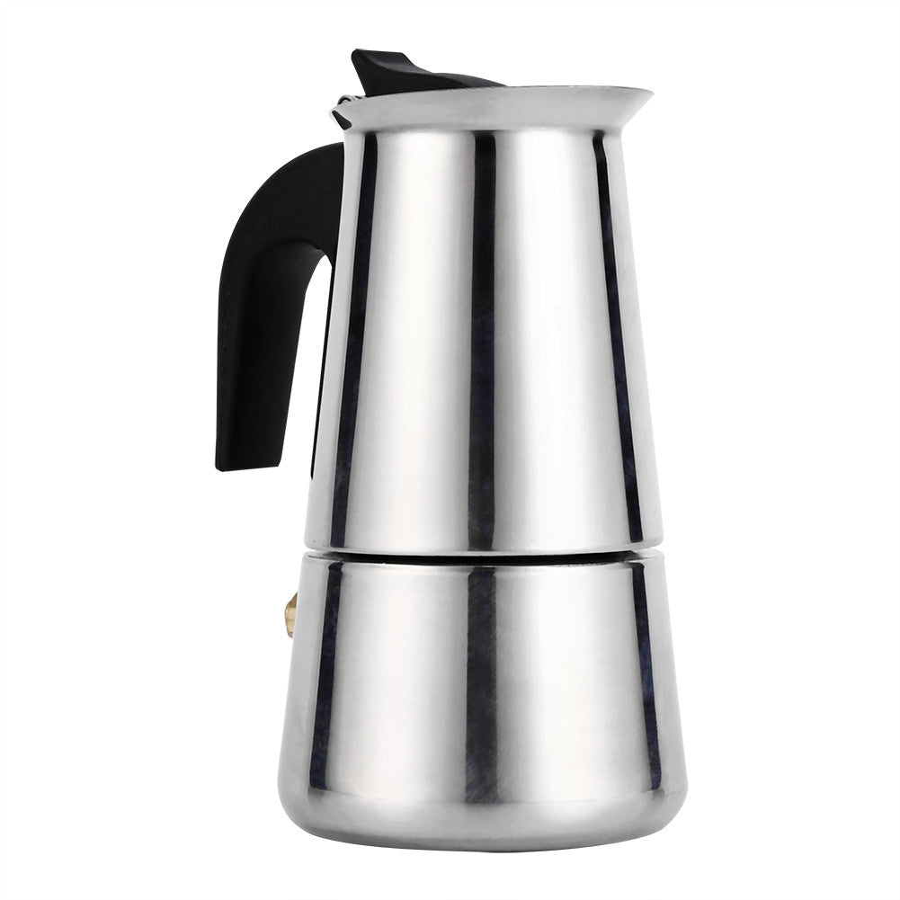 Stainless Steel Percolator Moka Pot Espresso Coffee Maker  Espresso Coffee Maker, Moka Pot Stove Home Office Use