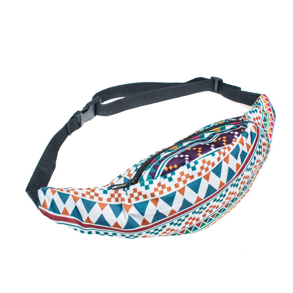 Fashion Sports Hiking Running Belt Waist Bag Pouch Zipper Fanny Pack