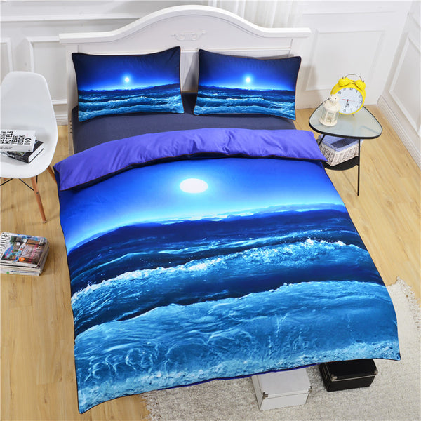 BeddingOutlet Starfish And Ocean Bedding Set Duvet Cover Set 3pcs Twin Queen King Size Bed Cover