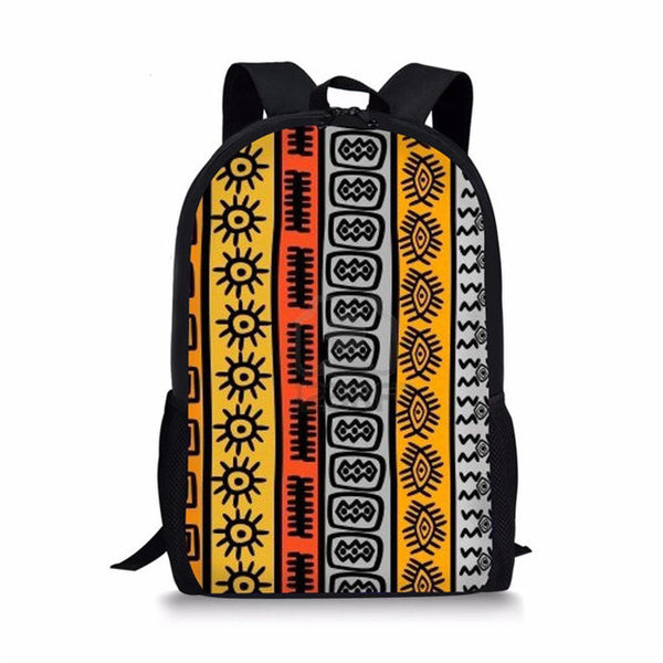 Afro Tribal School Bag