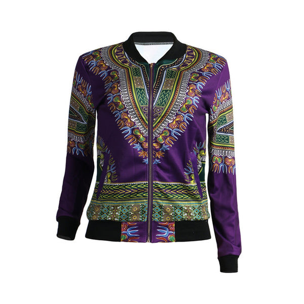Afro Tradition Retro Fashion Jacket with Zipper