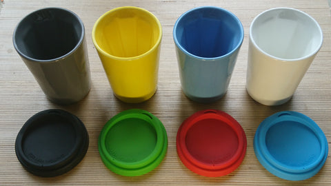 A set of four Therma cups (One of each colour)