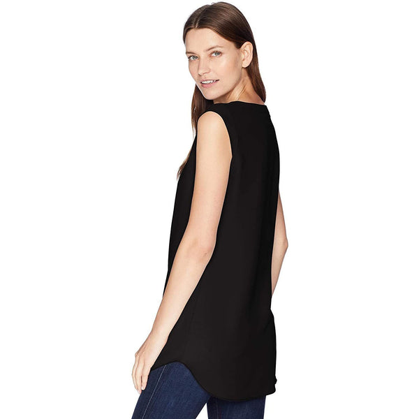 Daily Ritual Women's Cap-Sleeve Shell Shirt 4 Black