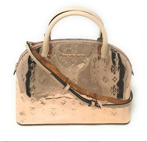Michael Kors Rose Gold EMMY Large Dome Satchel