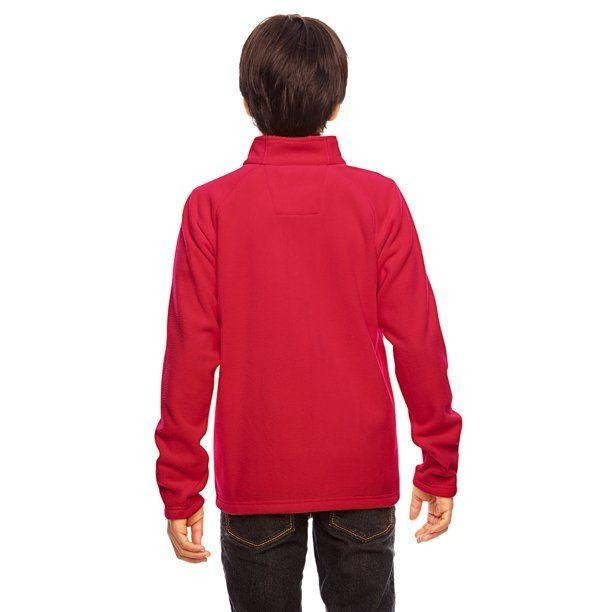 Team 365 Youth Campus Microfleece Jacket Red Large