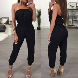 Black Strapless Jumpsuit