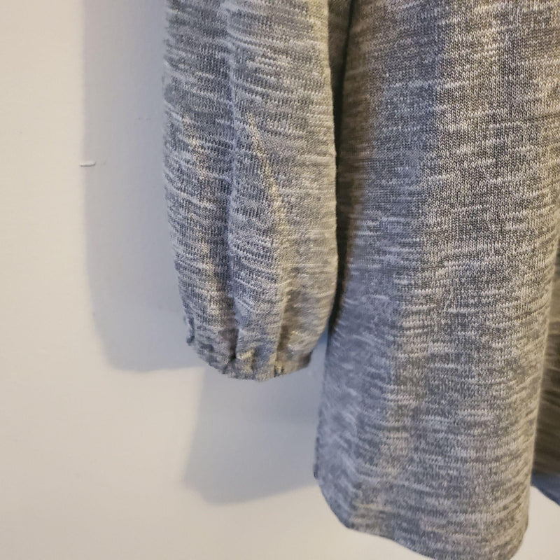Style & Co Femme Fusion 3/4 Sleeve Shirt Grey PM