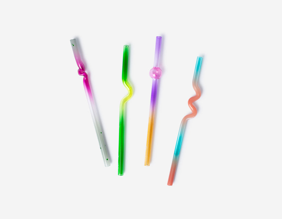 Suck It Up Cocktail Straw & Case - Set of 4