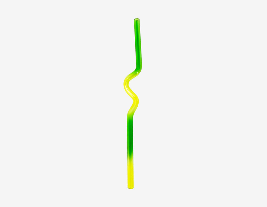 Suck It Up Straw & Case - Green & Yellow