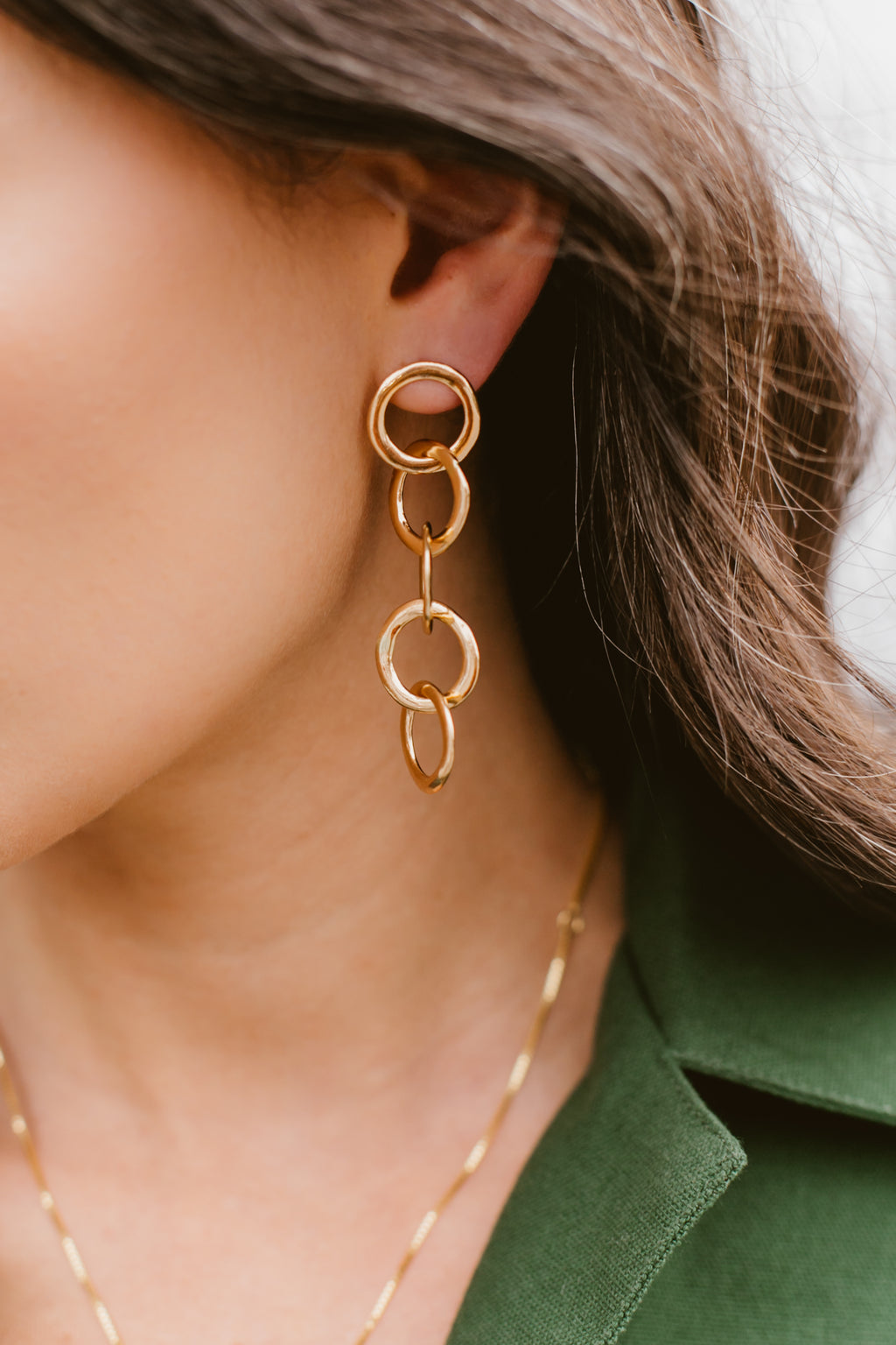 Brass Circle Earrings | by Ink and Alloy