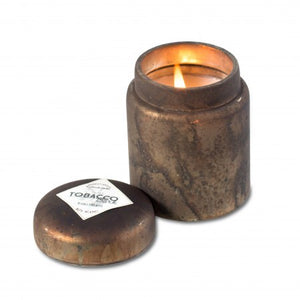 Tobacco Bark Mountain Fire Single Wick Hand Poured Candle| Himalayan Trading Post