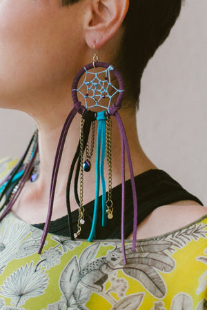 Dream Catcher Earrings | designed by Onyx and Wolf