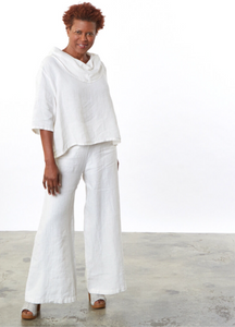 Natural White Palazzo Trousers | designed by Bryn Walker