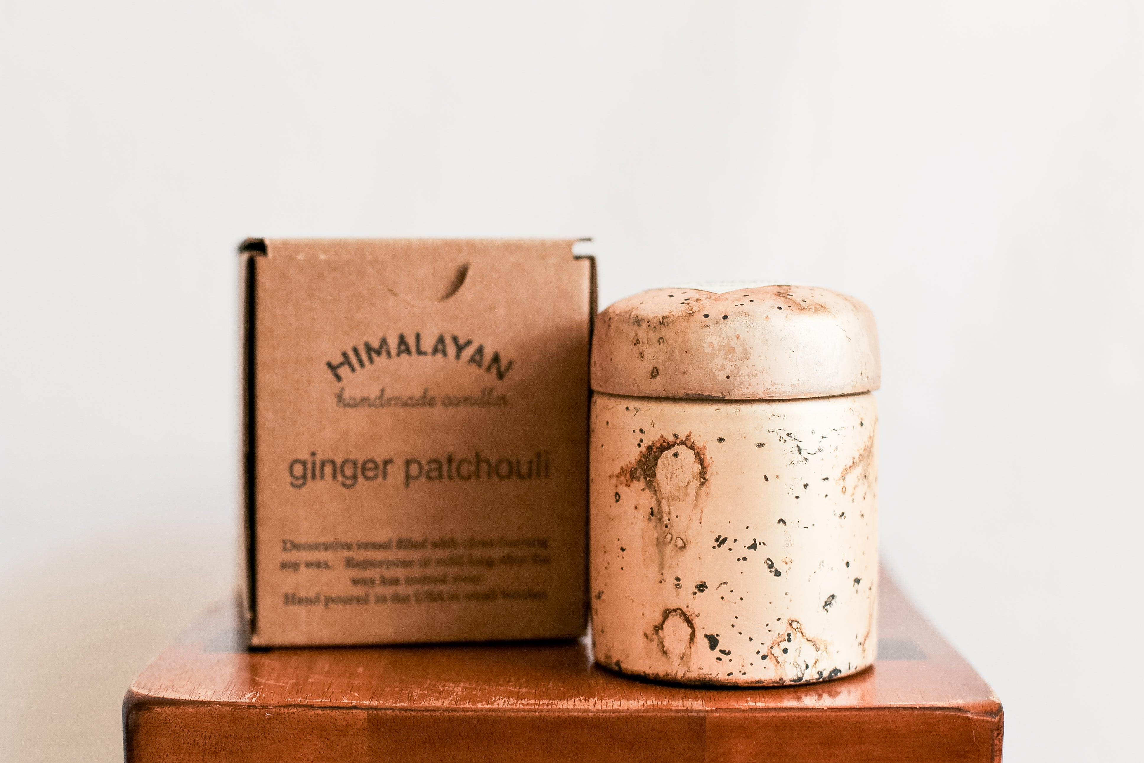 Ginger Patchouli Mountain Fire Single Wick Hand Poured Candle | Himalayan Trading Post