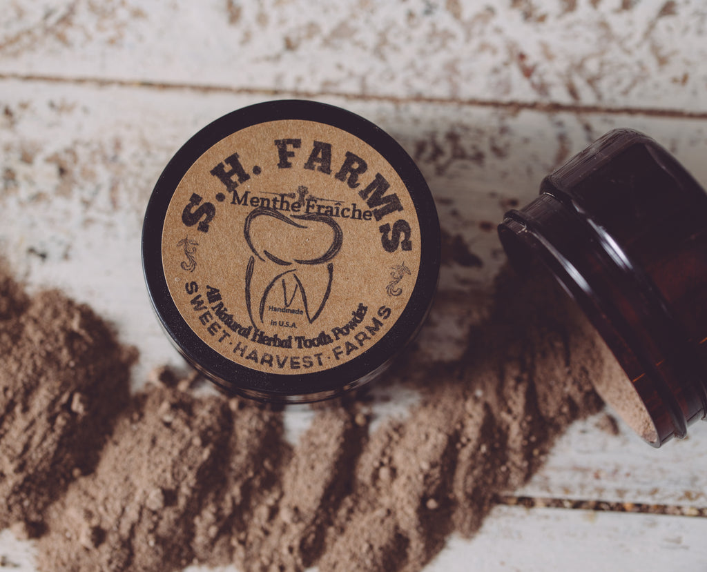 Menthe Fraîche Artisan Tooth Powder | Sweet Harvest Farms