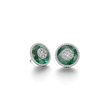 13mm,Round,Green Fusion Emerald