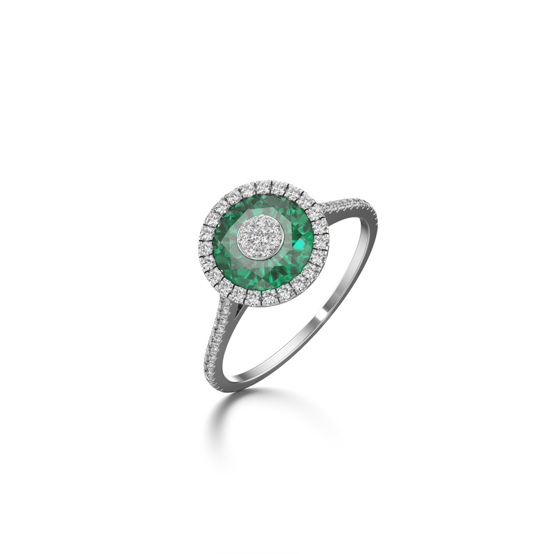 7mm,Round,Green Fusion Emerald