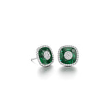 10mm,Cushion,Green Fusion Emerald