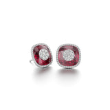 13mm,Cushion,Red Fusion Ruby