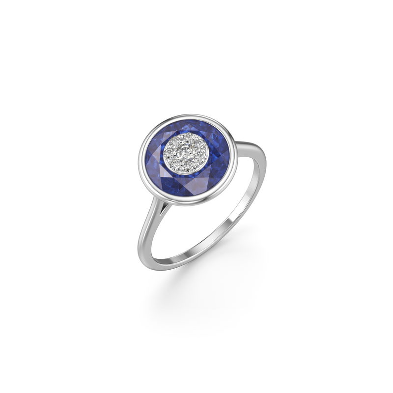 10mm,Round,Blue Fusion Sapphire