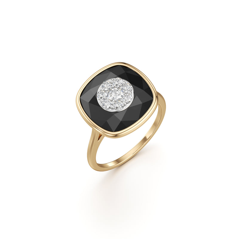 13mm,Cushion,Black Onyx