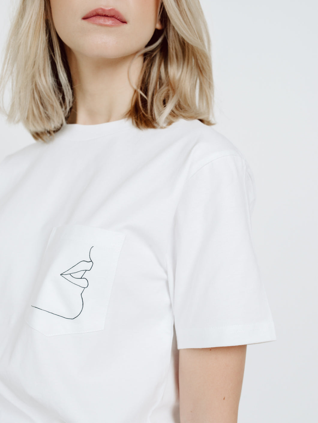 ABSTRACT PORTRAIT POCKET TEE