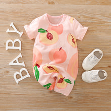 "Load image into Gallery viewer, ""Captivating Peach"" baby romper"