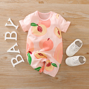 """Captivating Peach"" baby romper"