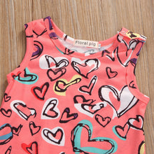 "Load image into Gallery viewer, ""Hearty heartshape"" baby romper"