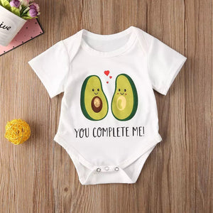 """you complete me"" baby romper"