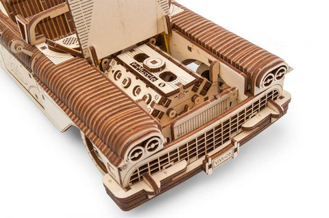 Wooden Model kits for adults - vintage convertible mechanical bonnet and engine