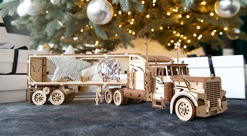 Wooden Truck Model kit for adults Mechanical Puzzle - Christmas Black Friday gift