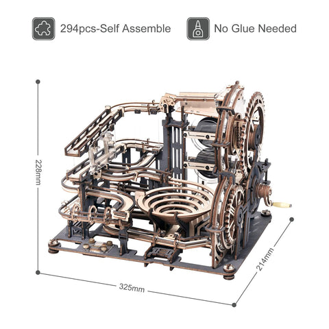 wooden marble run dimensions image