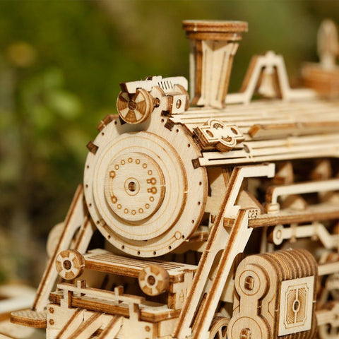 *NEW* 1:80 Scale Model Series: 3D Wooden Model Steam Train with Carriage