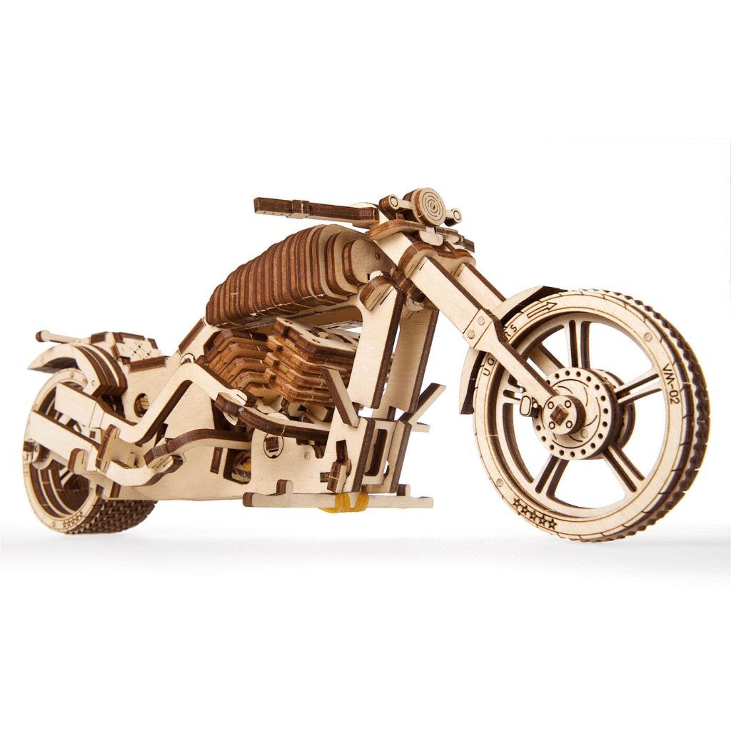 Wooden Mechanical Motorcycle