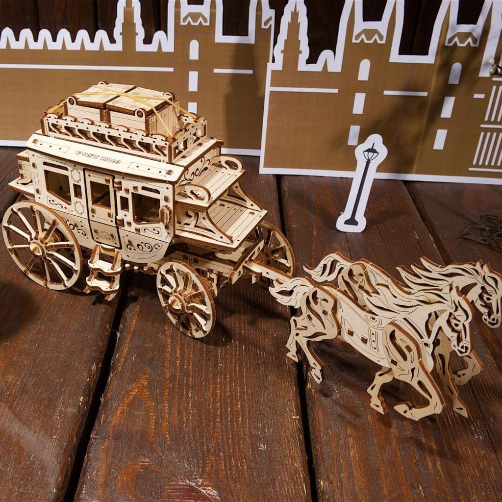 Wooden Mechanical Stagecoach