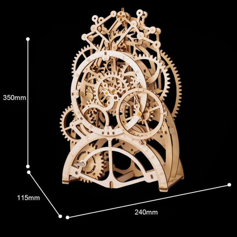 Wooden Mechanical Pendulum Clock