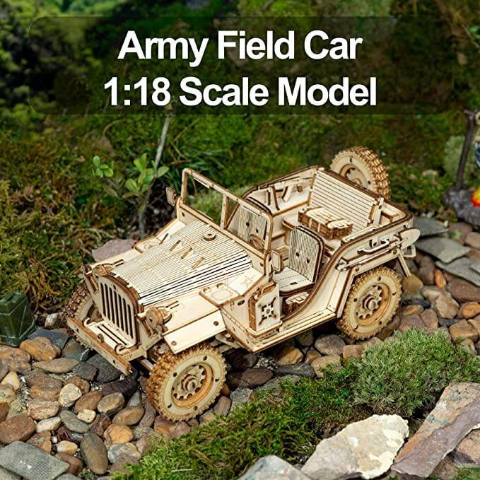 1:18 Scale Army Field Car