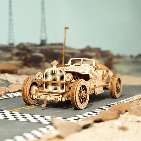 1:16 Scale Model Series: 3D Vintage Grand Prix Car