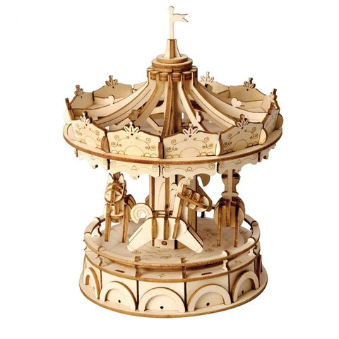 Merry Go Round Wooden 3D Puzzle Kit Ages 8+