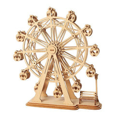 Ferris Wheel 3D Wooden Puzzle Kit for Ages 8+