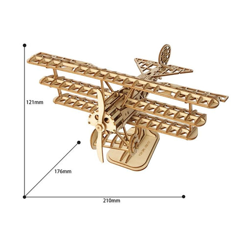 Tri-Plane 3D Wooden Puzzle Kit for Ages 8+