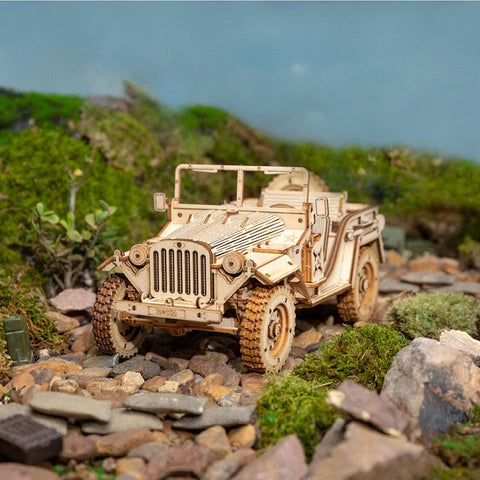 Wooden 3D Puzzle Jeep Model Kit