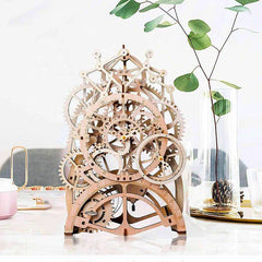 Wooden 3D Puzzle Mechanical Pendulum Clock Model Kit