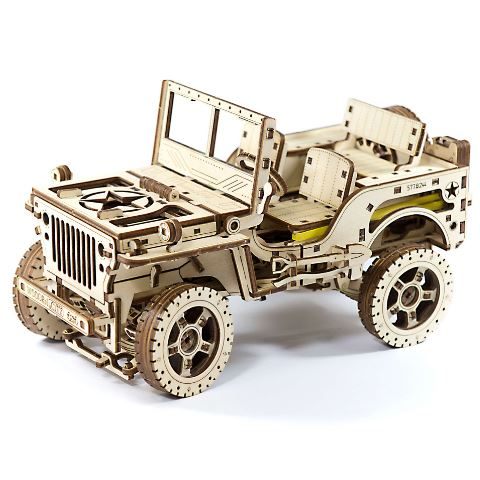 4X4 Army Vehicle Wooden Model 3D Puzzle Kit