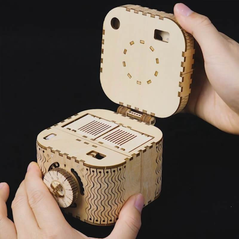 Wooden Mechanical Treasure Box