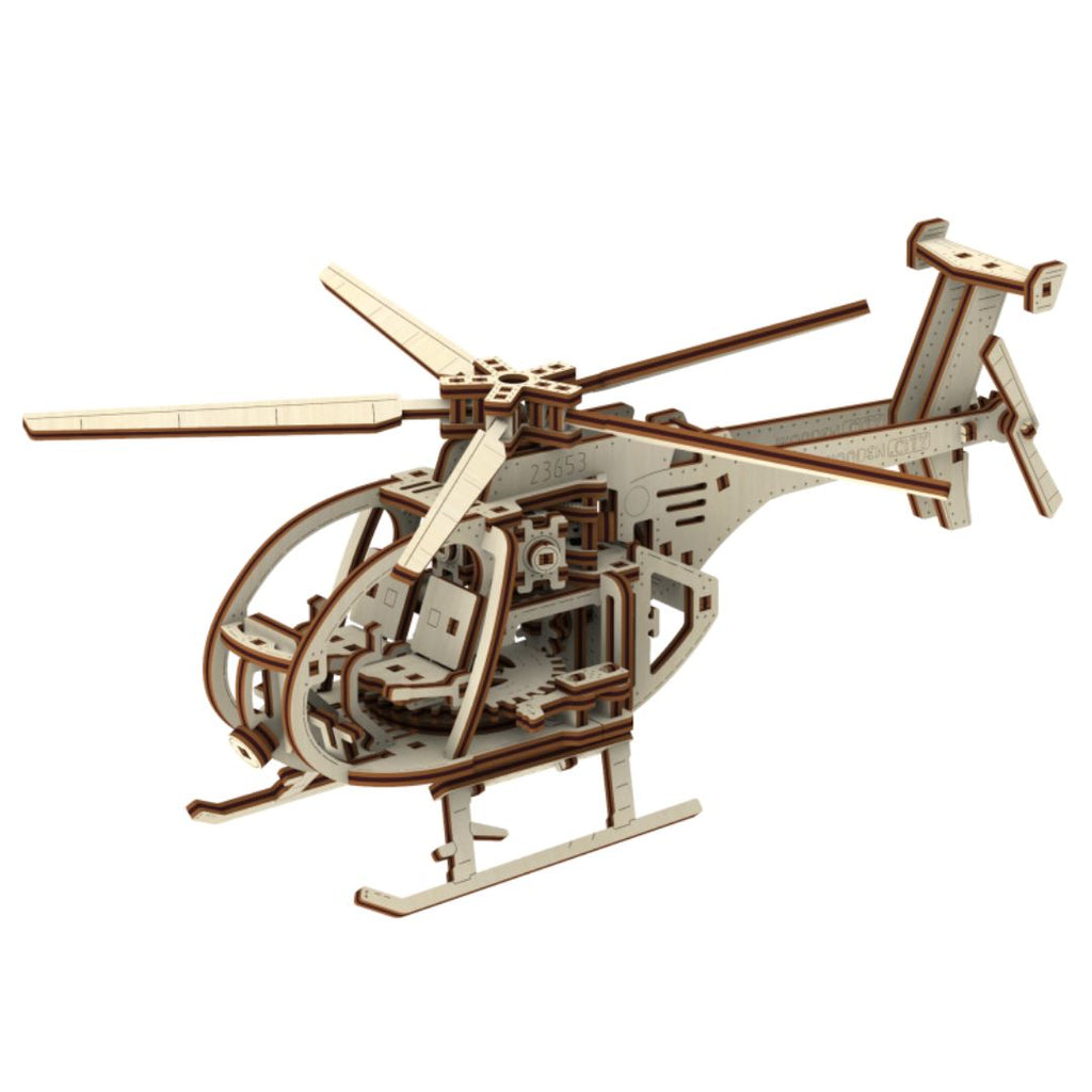 Helicopter Wooden Model Kit