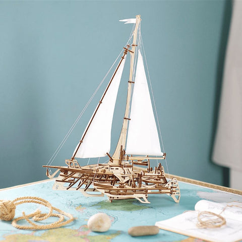 Ugears Trimaran Wooden Model Kit Yacht