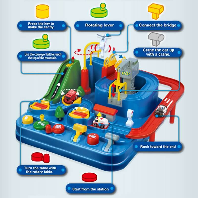 Adventure City - Vehicle Track Learn Set for Toddlers Age 3+ (No Batteries Required)