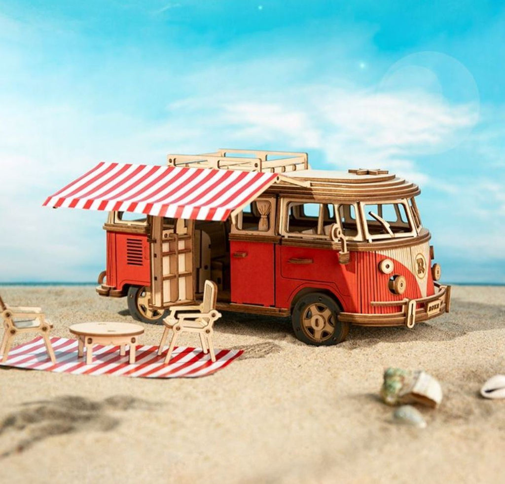 ROKR Wooden 3D Puzzle Camper Van Model Kit